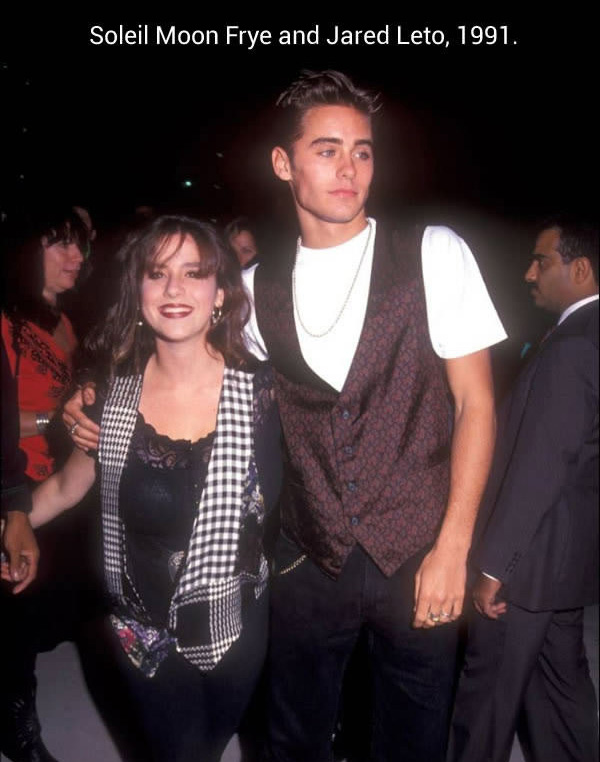 Soleil Moon Frye and Jared Leto
